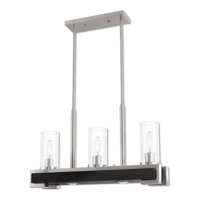 Dunigan Linear 3-Light LED Kitchen Island Pendant Finish: Brushed Nickel