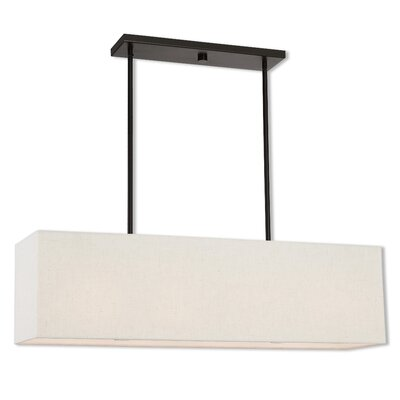 Briceno Linear 2-Light Kitchen Island Pendant with Diffuser Size: 47.5 H x 36 W x 8 D