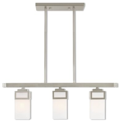 Bevins Linear 3-Light Kitchen Island Pendant Finish: Brushed Nickel