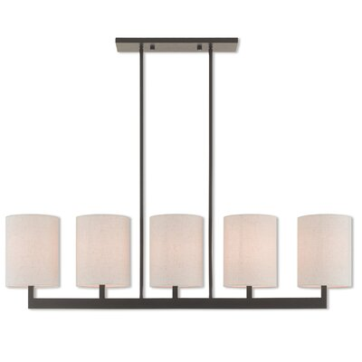 Biggins Linear 5-Light Kitchen Island Pendant Finish: Bronze