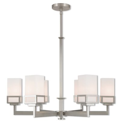 Bevins 6-Light Shaded Chandelier Finish: Brushed Nickel