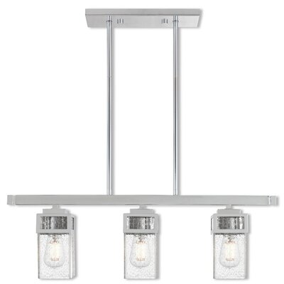Nailwell Linear 3-Light Kitchen Island Pendant Finish: Polished Chrome