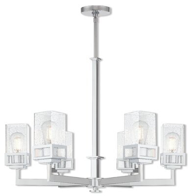 Bevins 6-Light Shaded Chandelier Finish: Polished Chrome
