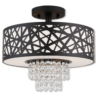 Bottorff 2-Light Semi Flush Mount Finish: Bronze