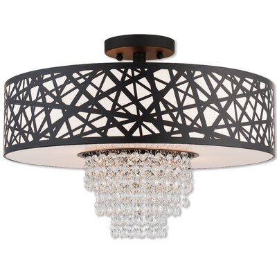 Bottorff 4-Light Semi Flush Mount Finish: Bronze