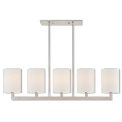 Biggins Linear 5-Light Kitchen Island Pendant Finish: Brushed Nickel