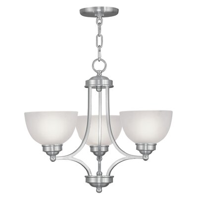 Irwin Contemporary 3-Light Shaded Chandelier Finish: Brushed Nickel