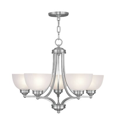 Irwin 5-Light Shaded Chandelier Finish: Brushed Nickel