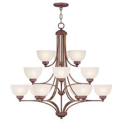 Irwin 12-Light Shaded Chandelier Finish: Vintage Bronze