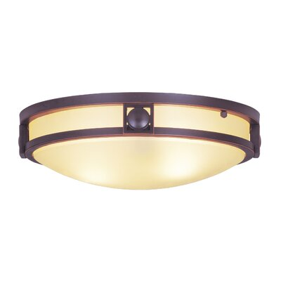 Matrix 2-Light Flush Mount Finish: Olde Bronze, Size: 13