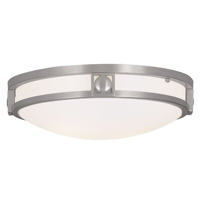 Matrix 2-Light Flush Mount Finish: Brushed Nickel, Size: 13