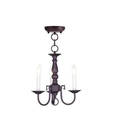 Allensby 3-Light Bronze Candle-Style Chandelier