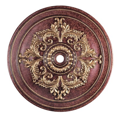 Polyurethane Foam Ceiling Medallion Finish: Verona Bronze with Aged Gold Leaf Accents