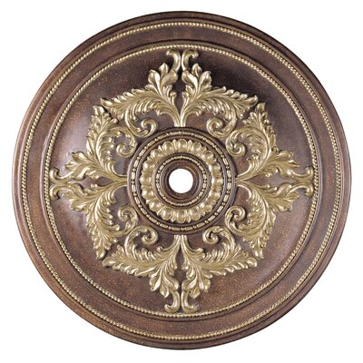 Polyurethane Foam Ceiling Medallion Finish: Palacial Bronze with Gilded Accents