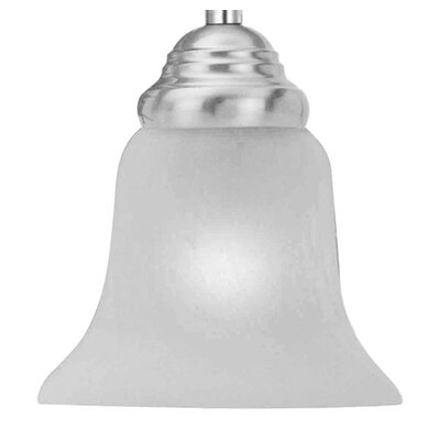 Lawrenceville 6 Bell Ceiling Fan Fitter Shade Height / Shade: 4.5 / Satin Glass