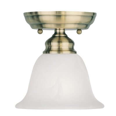 Cicco 1-Light Semi Flush Mount Finish: Antique Brass