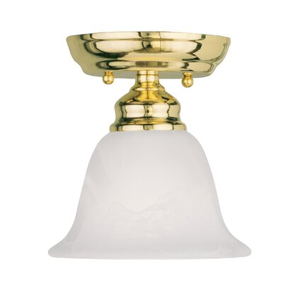 Altamont 1-Light Semi Flush Mount Finish: Polished Brass