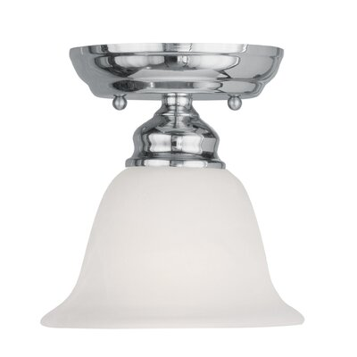 Altamont 1-Light Semi Flush Mount Finish: Chrome