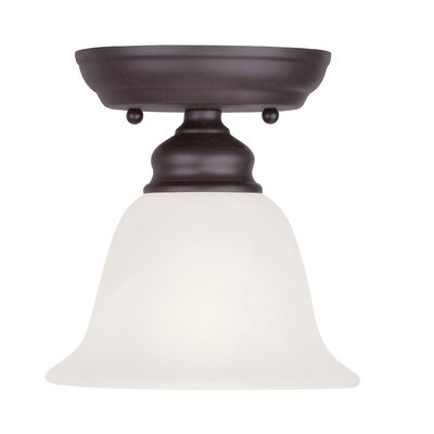 Cicco 1-Light Semi Flush Mount Finish: Bronze