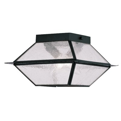 Cynda 2-Light Flush Mount Finish: Black