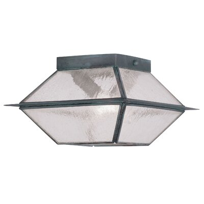 Cynda 2-Light Flush Mount Finish: Charcoal
