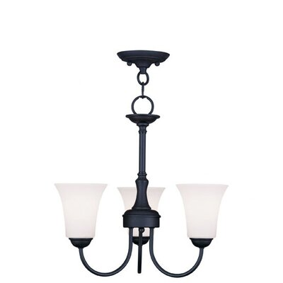 Grady Contemporary 3-Light Shaded Chandelier Finish: Black
