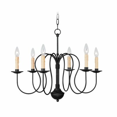Eberhart 6-Light Metal Candle-Style Chandelier