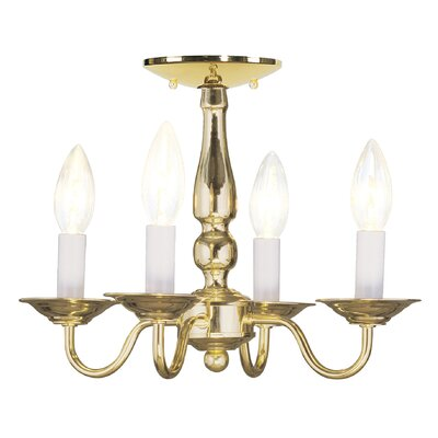 Allensby 4-Light Candle-Style Chandelier Finish: Polished Brass