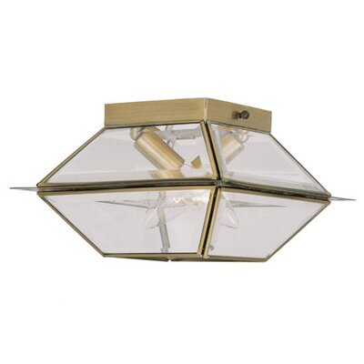 Orchard Lane 2-Light Flush Mount Finish: Antique Brass