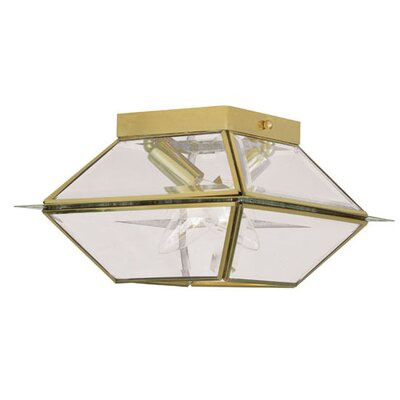 Orchard Lane 2-Light Flush Mount Finish: Polished Brass