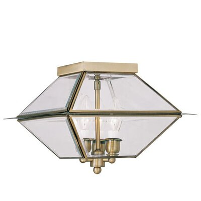 Orchard Lane 3-Light Flush Mount Finish: Antique Brass