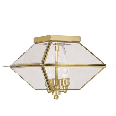 Orchard Lane 3-Light Flush Mount Finish: Polished Brass