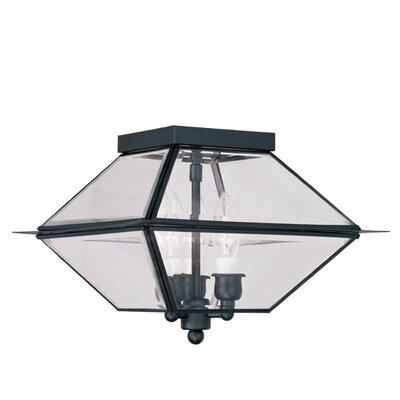 Orchard Lane 3-Light Flush Mount Finish: Black