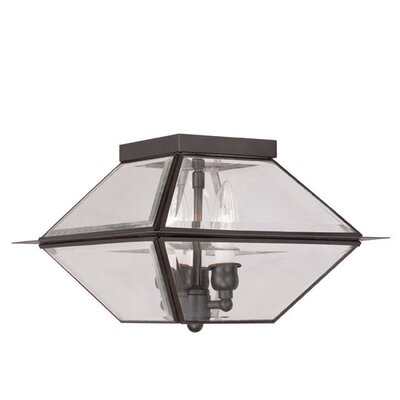 Orchard Lane 3-Light Flush Mount Finish: Bronze
