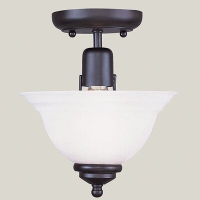 Brunette 1-Light Semi Flush Mount Finish: Black