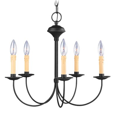 Eberhart 5-Light Traditional Candle-Style Chandelier