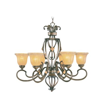 Bruch 6-Light Shaded Chandelier
