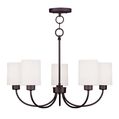 Graham 5-Light Shaded Chandelier Finish: Bronze