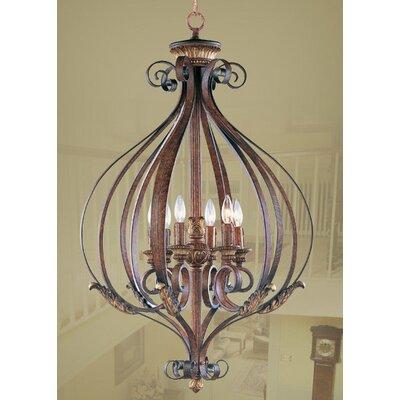 Scottdale 6-Light Foyer Pendant Size: 40 H x 25.75 W x 25.75 D