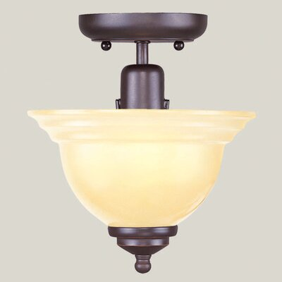 Brunette 1-Light Semi Flush Mount Finish: Olde Bronze