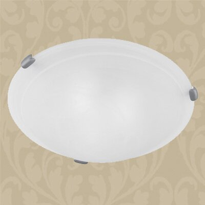 Manchester Flush Mount in Imperial Bronze Size: 4 H x 12 W x 12 D, Finish: Brushed Nickel