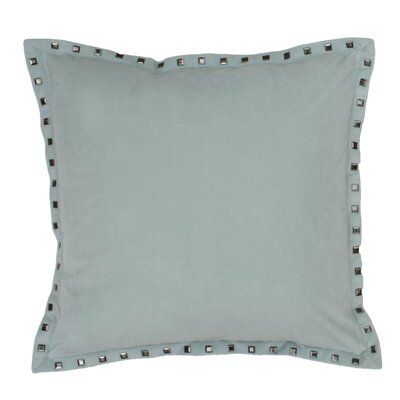 Payton Nailhead Throw Pillow Color: Harbor