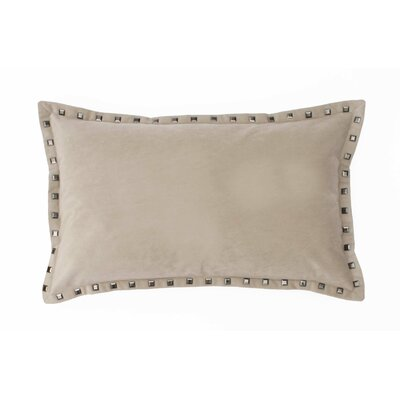 Payton Velvet Lumbar Pillow Color: String