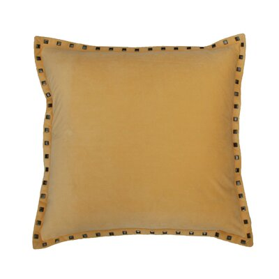 Payton Nailhead Throw Pillow Color: Mimosa