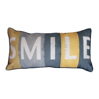 Coastal Smile Printed Lumbar Pillow Color: Yellow