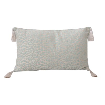 Gabriella Cheetah Lumbar Pillow Color: Nile Blue