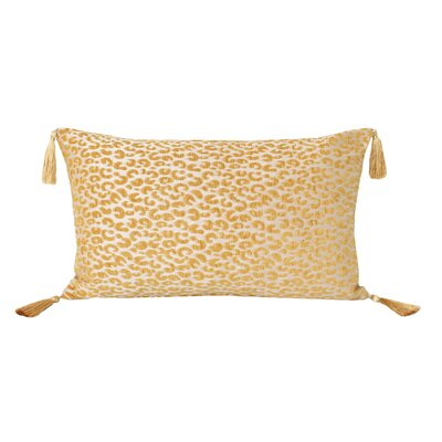 Gabriella Cheetah Lumbar Pillow Color: Honey Gold