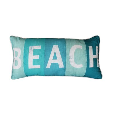 Coastal Beach Print Lumbar Pillow Color: Blue