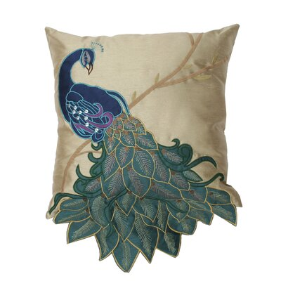 Fancy Peacock Throw Pillow Size: 16 H x 16 W
