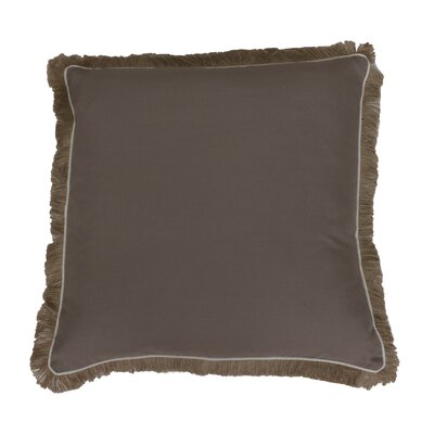 Bailey Fringe Welt and Raffia Trim Throw Pillow Color: Simply Taupe